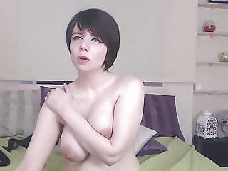 hairy busty short-haired cam-slut