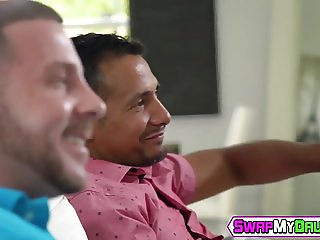 Horny babe Shae Celestine gets hard cock in her tight pussy