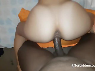White chick likes it rough from behind