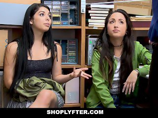 ShopLyfter - Twin Sisters Get Caught Shoplifting And Reprimanded With Cock