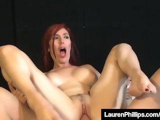 Busty RedHead Lauren Phillips Is Fucked & Jizzed On Her Tits