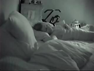 Caught girlfriend masturbating in bed