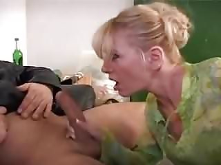 Dirty Blonde Getting Her Asshole Double Fucked