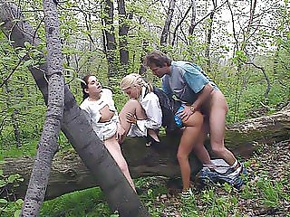 Private Video Magazine threesome in the Anal Park