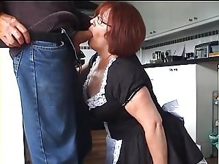 Velmadoo the French maid gagging on cock part 1