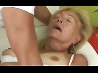 Blonde Granny Sucks And Fucks