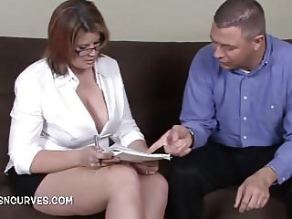 Secretary fucked by her boss & his boss