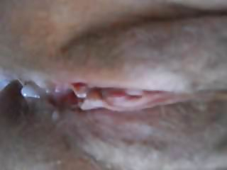 rubbing wife's clit playing and spreading for cum