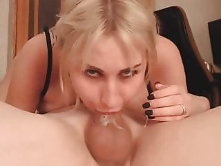 Busty Blonde deepthroat 69