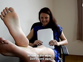 Hot office foot worship - CzechSoles.com teaser