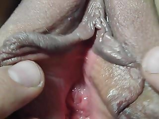very close up of Lover Nicki,s shaved gaped pussy