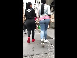 Phat Ass Black And Latin Chicks in Jeans and Leggings
