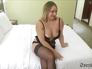 German Teen Fuck with Stranger and Swallow His load
