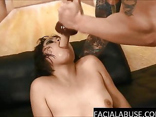 Retarded Asian Yuka Ozaki humiliated & throat destroyed
