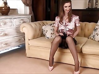 lady in high-heels and leather skirt