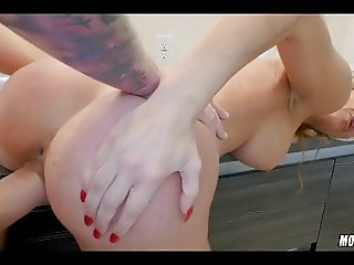 Amazing Blonde MILF loves this cock