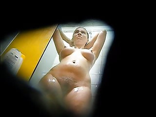 beautiful girl in spy shower