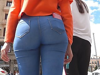GluteusDivinus - Spanish Candid Ass In Blue Jeans