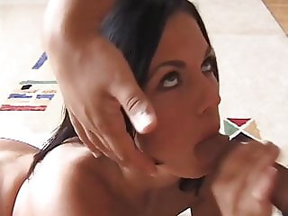 Pretty Lady Gives Sensual Blowjob With Happy Ending