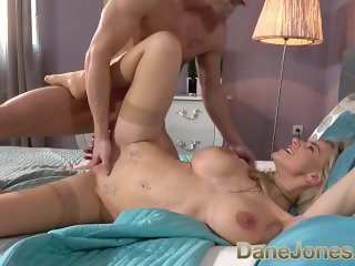 Dane Jones Big tits blonde Nathaly Cherie and Lutro fuck like newlyweds
