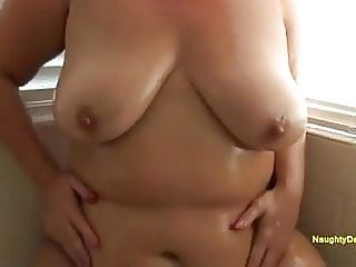 Naughty Desiree tits and belly play