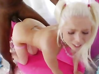 Anal Blonde Whore Fucked by BBC