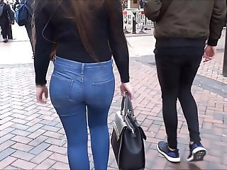 Teen big ass in tight jeans 6