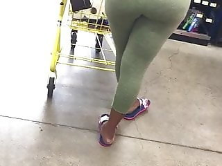 Cum on ebony milf at the dollar store  part 2