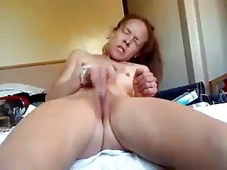 Horny skinny girl rubs to intense orgasm