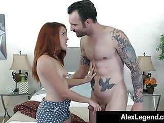 Spanish Redhead Amarna Miller Fucks Alex Legend's Big Cock!