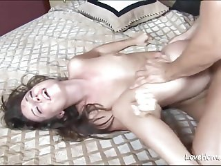Doggy style for a cute small tits babe.mp4