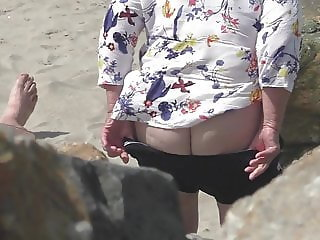 granny show lovely fat ass
