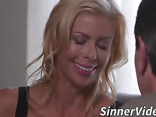 Milf wife gives her husband a nice surprise when he comes