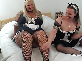 Curvy Maids enjoying their lunch break