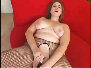 Hot Fat Chubby Teen riding her black dildo-2