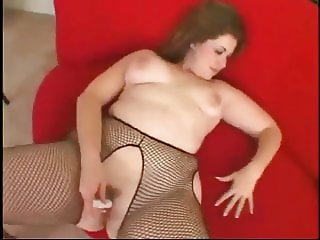 Hot Chubby Teen masturbating with her black dildo-1