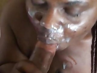 Cock sucking facial and post orgasm torture