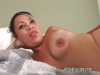 Hispanic MILF with Hairy Pussy Gets Her Asshole Fucked
