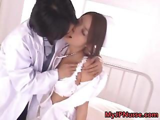 Asian nurse has sexy lingerie part6