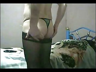 Crossdresser flowered very sexy thong Part.1