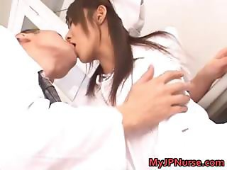 Super sexy Japanese nurses sucking part3