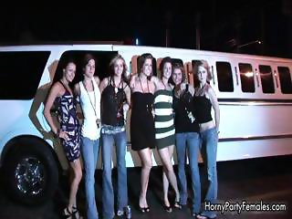 Group of hot party babes showing part6