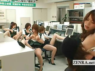 Japanese post office burglar busty masturbation party
