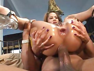 Big Cock Cums Up Her Ass
