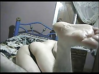 Crossdresser sexy black thong micro Part.1