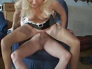 Sexy maid does her job