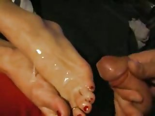 great footjob cumshot