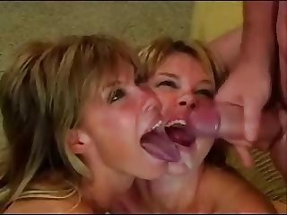 Hot Twins share a Cock