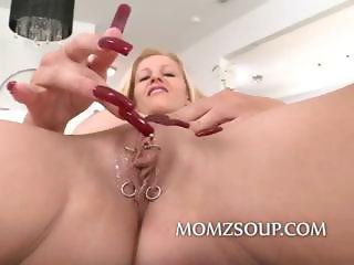 Pierced robot crazy pussy owned by milf is about to get fucked real hard