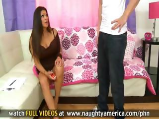 Cougar Teri Weigel gets her son's friend to fuck her at home